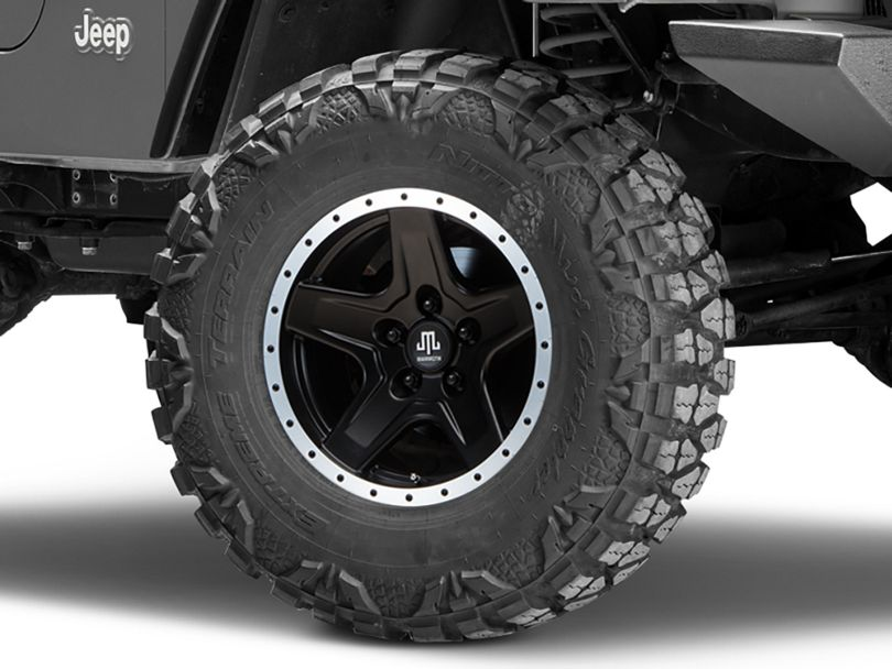 Mammoth Boulder Beadlock Style Black Wheel - 16x8 (97-06 Jeep Wrangler TJ)