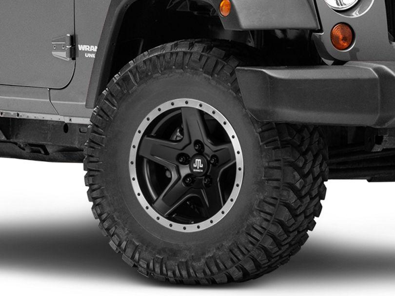 Mammoth Boulder Beadlock Style Black Wheel - 16x8 (07-18 Jeep Wrangler JK)