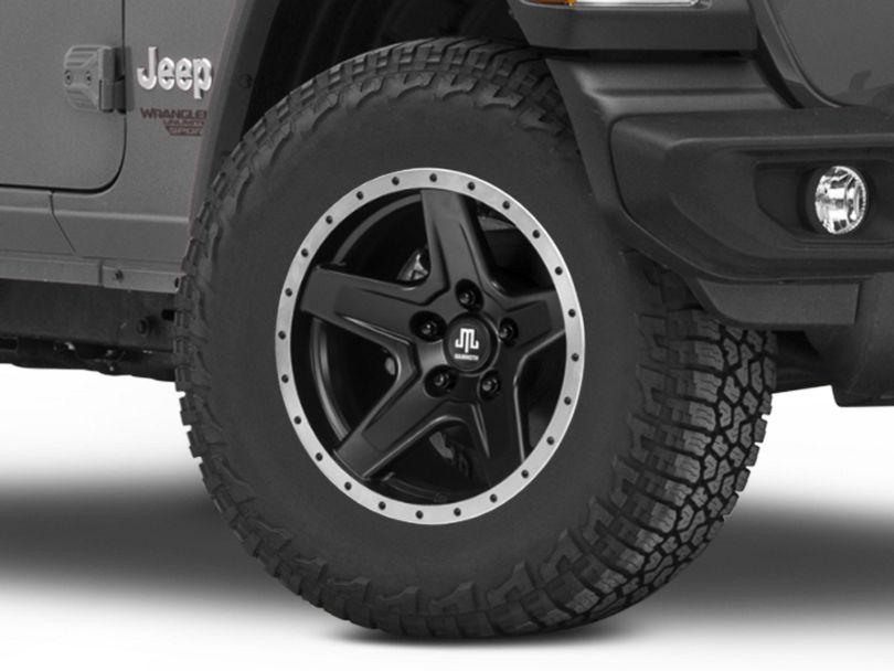 Mammoth Boulder Beadlock Style Black Wheel - 17x9 (18-19 Jeep Wrangler JL)