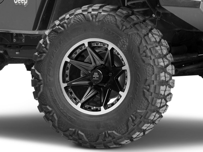 Mammoth Type 88 Black Wheel - 16x8 (97-06 Jeep Wrangler TJ)