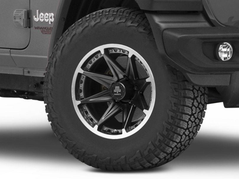 Mammoth Type 88 Black Wheel; 17x9 (18-20 Jeep Wrangler JL)