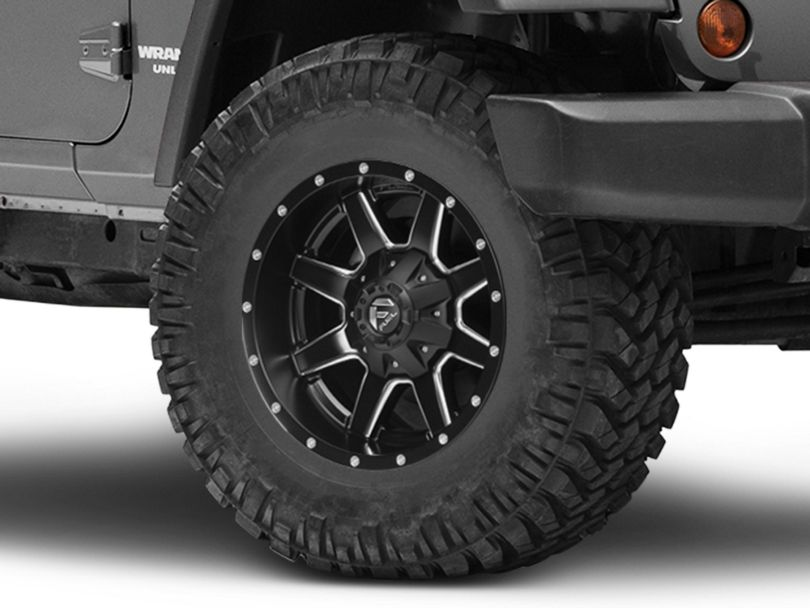Fuel Wheels Maverick Matte Black Milled Wheel - 17x9 (07-18 Jeep Wrangler JK)