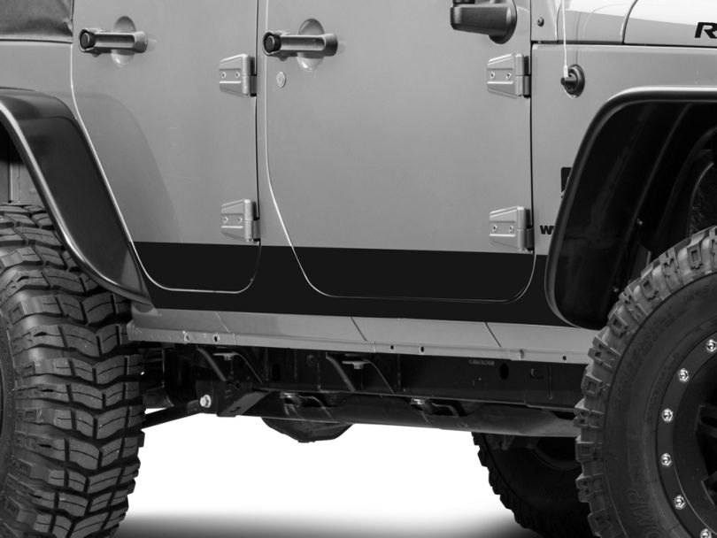 Rocker Panel Decal - Matte Black (07-18 Jeep Wrangler JK 4 Door)