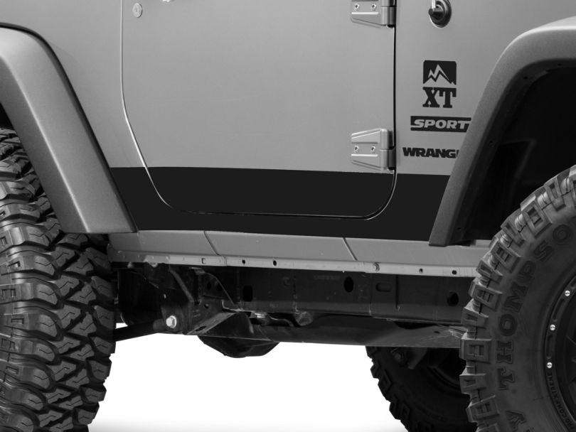 SEC10 Rocker Panel Decal; Matte Black (07-18 Jeep Wrangler JK 2 Door)