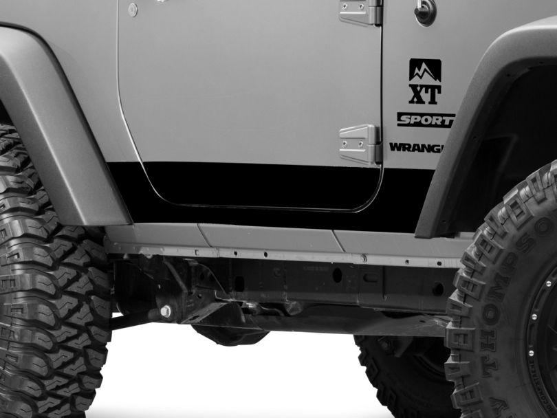Rocker Panel Decal - Black (07-18 Jeep Wrangler JK 2 Door)