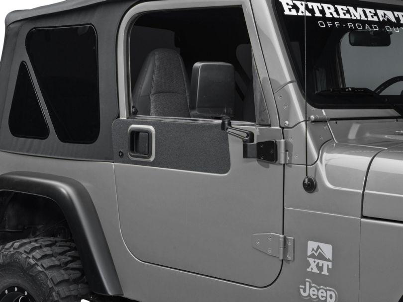 Barricade BodyShield Door Accent Decal - Textured Black (87-06 Jeep Wrangler YJ & TJ)