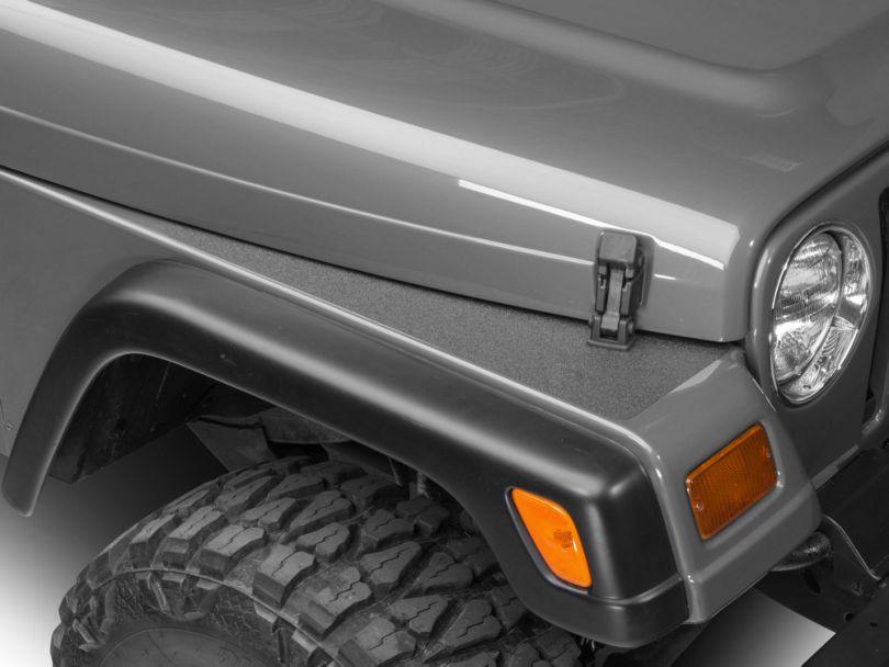 Barricade BodyShield Top Fender Decal - Textured Black (87-06 Jeep Wrangler YJ & TJ)