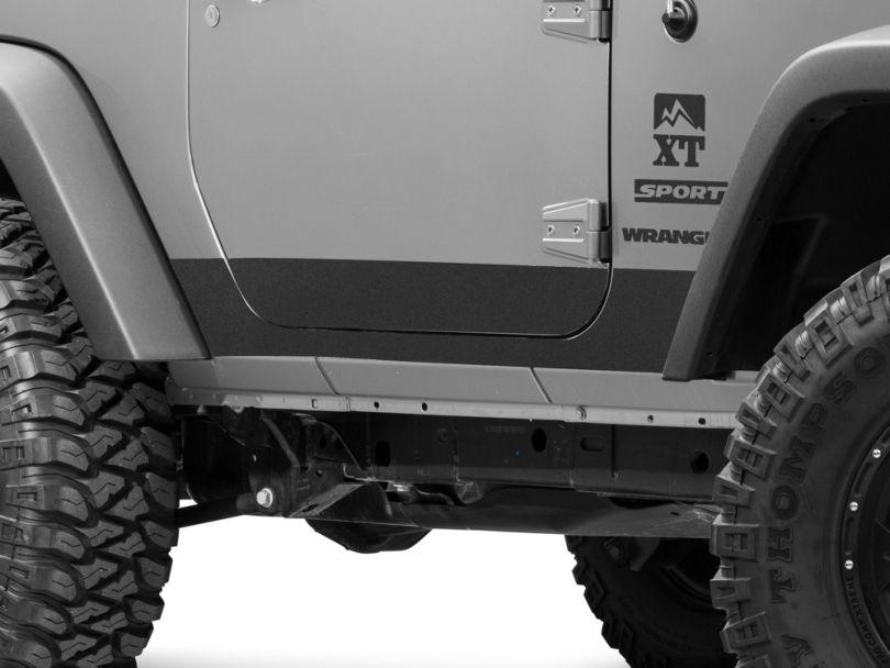 Barricade BodyShield Rocker Panel Decal - Textured Black (07-18 Jeep Wrangler JK 4 Door)