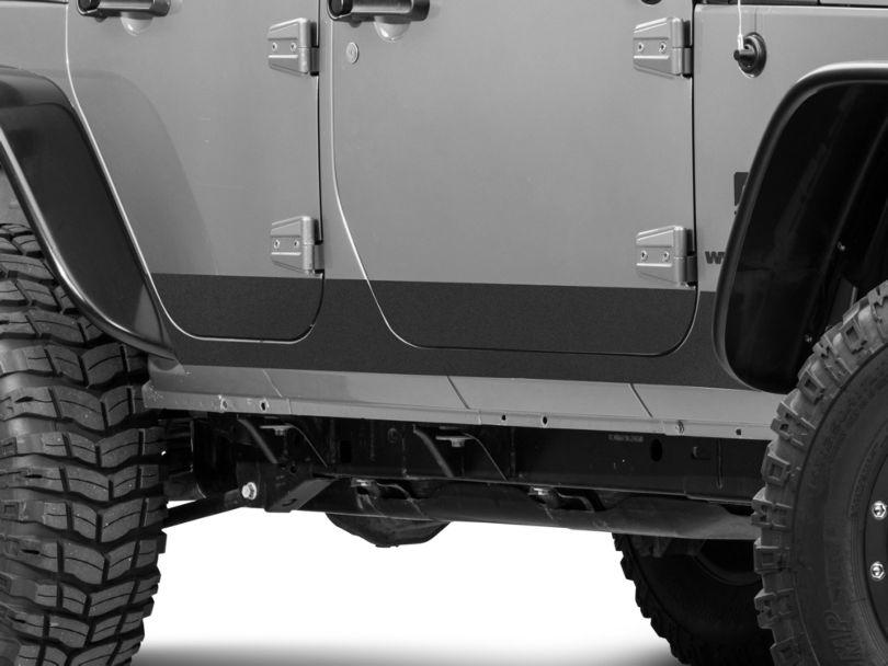 Barricade BodyShield Rocker Panel Decal - Textured Black (07-18 Jeep Wrangler JK 2 Door)