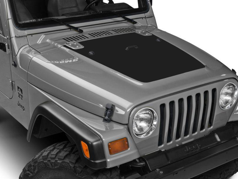 SEC10 Hood Decal; Matte Black (97-06 Jeep Wrangler TJ)