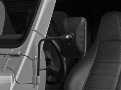 Barricade Rectangular Textured Black Adventure Mirrors - Pair (87-06 Jeep Wrangler TJ & YJ)