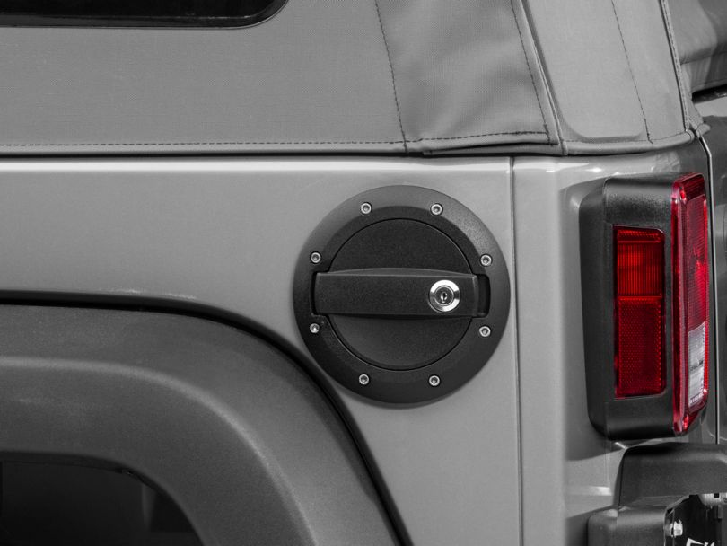 Barricade Locking Fuel Door - Textured Black (07-18 Jeep Wrangler JK)