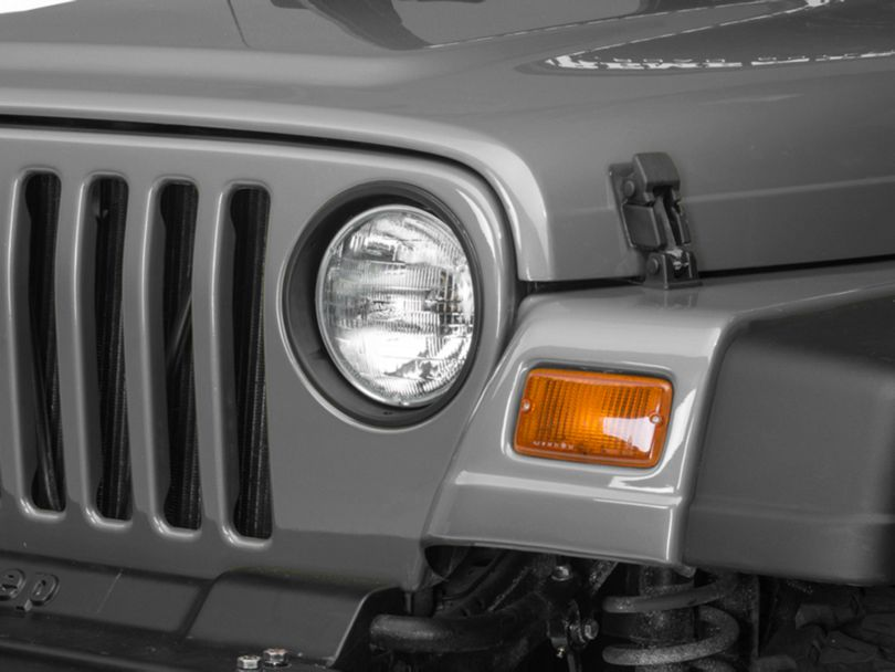 RedRock 4x4 Matte Black Headlight Bezels (97-06 Jeep Wrangler TJ)