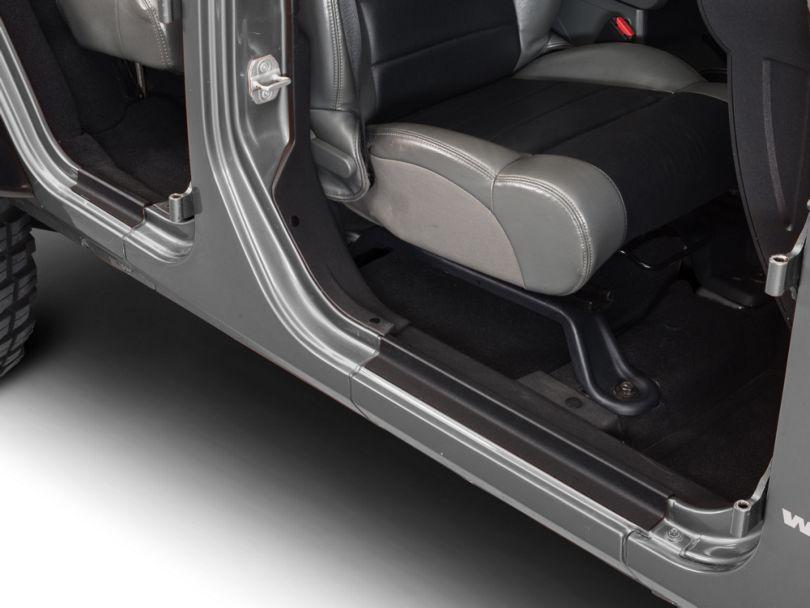 RedRock 4x4 Door Entry Guards - Textured Black (07-18 Jeep Wrangler JK 4 Door)