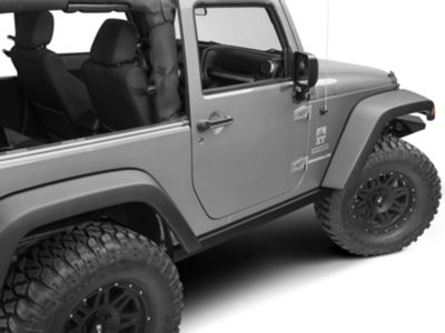 Add Barricade Rubi Rails - Textured Black (07-17 Wrangler JK 2 Door)
