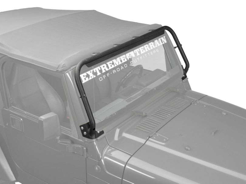 Barricade Light Bar Mount Brackets - Textured Black (97-06 Jeep Wrangler TJ)