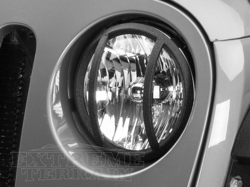 Barricade Headlight Guard - Textured Black (07-18 Jeep Wrangler JK)