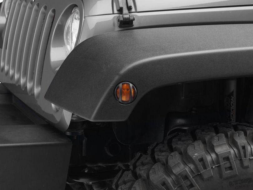 Barricade Side Marker Guard - Textured Black (07-18 Jeep Wrangler JK)