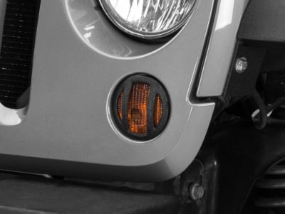 Add Barricade Turn Signal Guard - Textured Black (07-17 Wrangler JK)