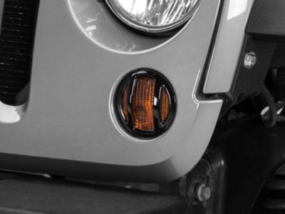 Barricade Turn Signal Guard - Black (07-18 Jeep Wrangler JK)