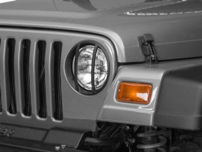 Barricade Headlight Guard - Textured Black (97-06 Jeep Wrangler TJ)