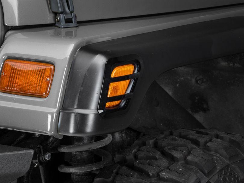 Barricade Side Marker Guard - Black (97-06 Jeep Wrangler TJ)