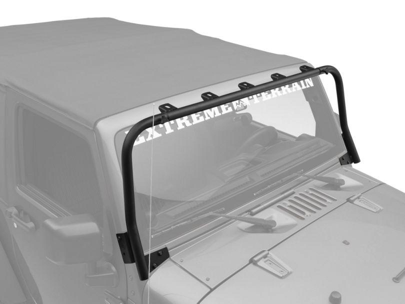 KC HiLiTES Overhead Light Bar; Black (07-18 Jeep Wrangler JK)