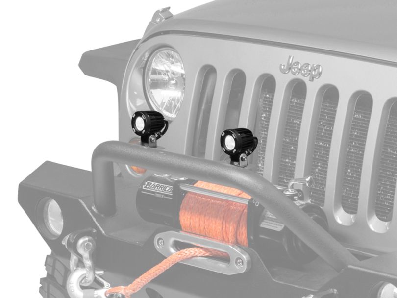 Vision X 2 in. Solstace Solo LED Pod Light - 40 Degree Wide Beam