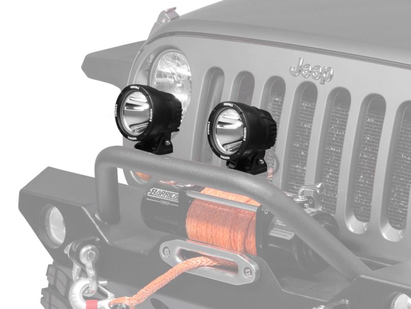 Vision X PolyCarbonate Cover for 4.5 In. Light Cannon - Clear (87-20 Jeep Wrangler YJ, TJ, JK & JL)