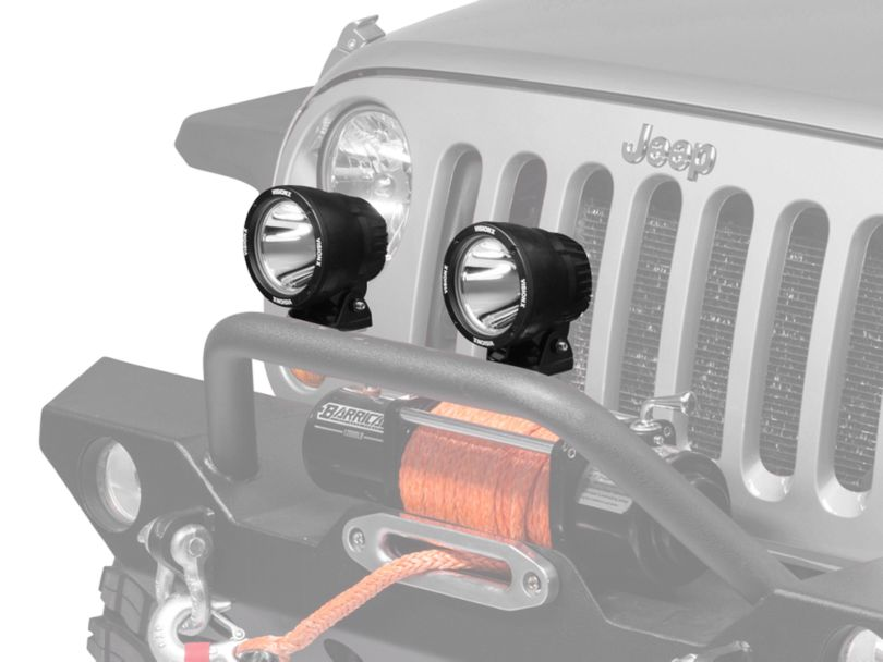 Vision X Yellow PolyCarbonate Euro Beam Cover - 4.5 in. Cannon (87-20 Jeep Wrangler YJ, TJ, JK & JL)