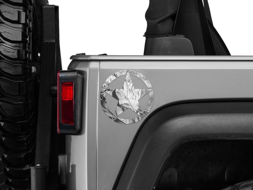 On The Move Star Small Decal - Real Tree (87-20 Jeep Wrangler YJ, TJ, JK & JL)