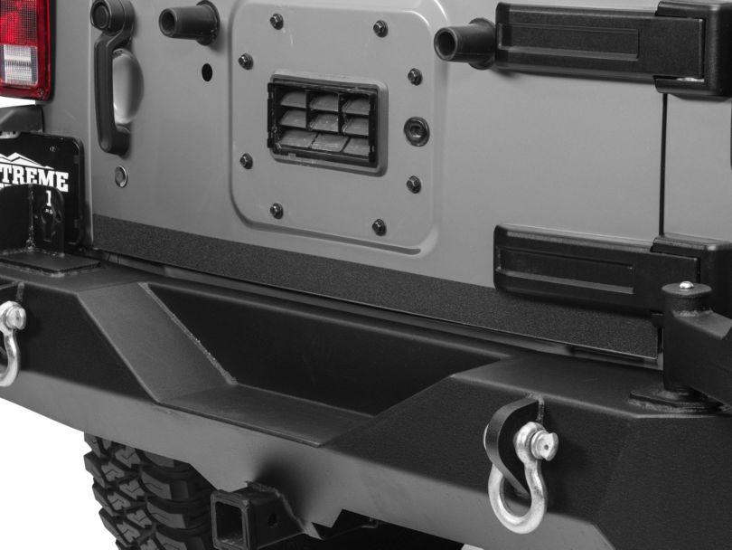 Barricade Rear Door Edge Body Shield Decal - Black (07-18 Jeep Wrangler JK)