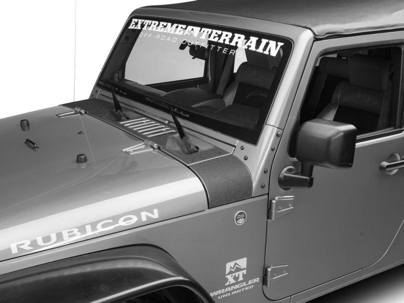 SEC10 Cowl Body Shield Decal; Black (07-18 Jeep Wrangler JK)