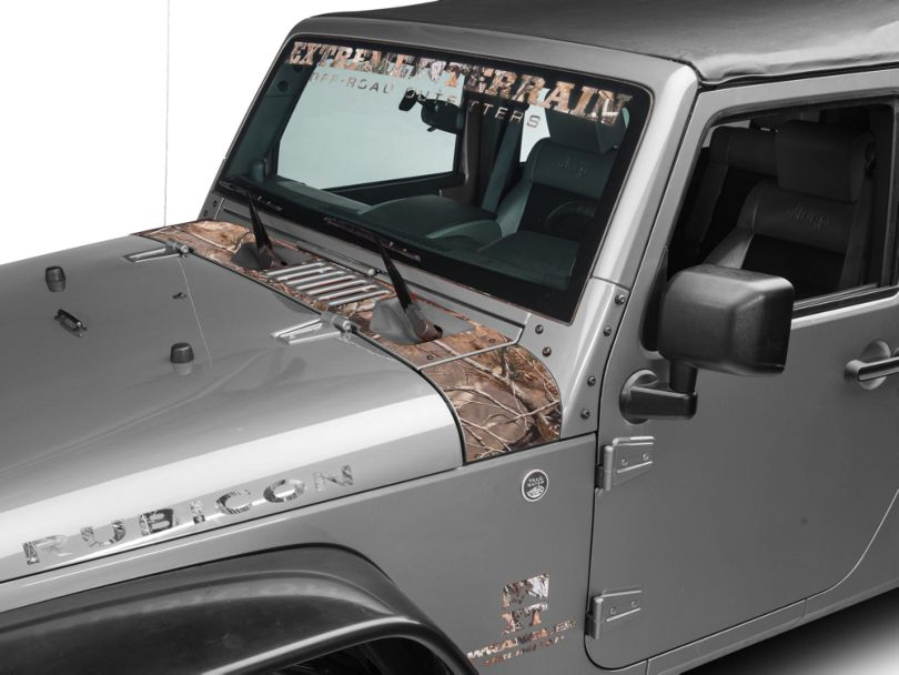 SEC10 Cowl Decal; Real Tree (07-18 Jeep Wrangler JK)