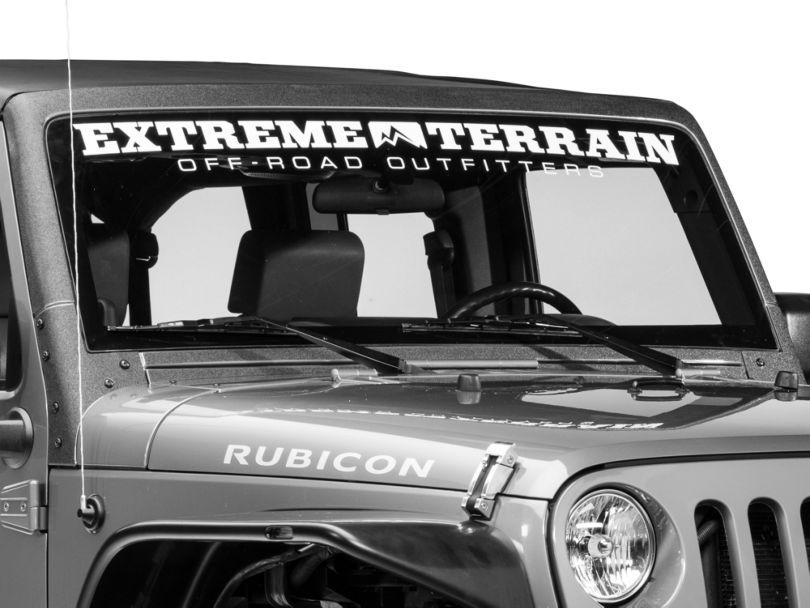 Barricade Windshield Frame Body Shield Decal - Black (07-18 Jeep Wrangler JK)