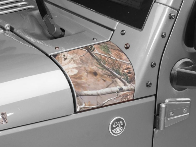 Outer Cowl Decal - Real Tree (07-18 Jeep Wrangler JK)