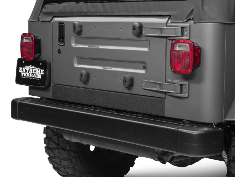 Barricade Rear Sill Body Shield Decal - Black (97-06 Jeep Wrangler TJ)