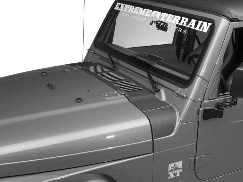 RedRock 4x4 Cowl Body Shield Decal; Black (97-06 Jeep Wrangler TJ)