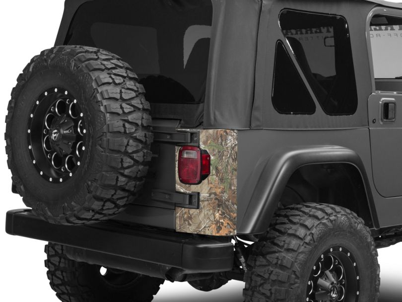 Rear Corner Decal - Real Tree (97-06 Jeep Wrangler TJ)
