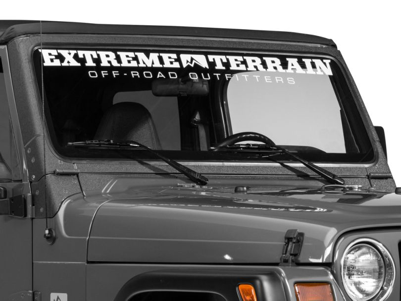 Barricade Windshield Frame Body Shield Decal - Black (97-06 Jeep Wrangler TJ)