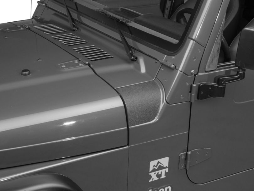 Barricade Outer Cowl Body Shield Decal - Black (97-06 Jeep Wrangler TJ)