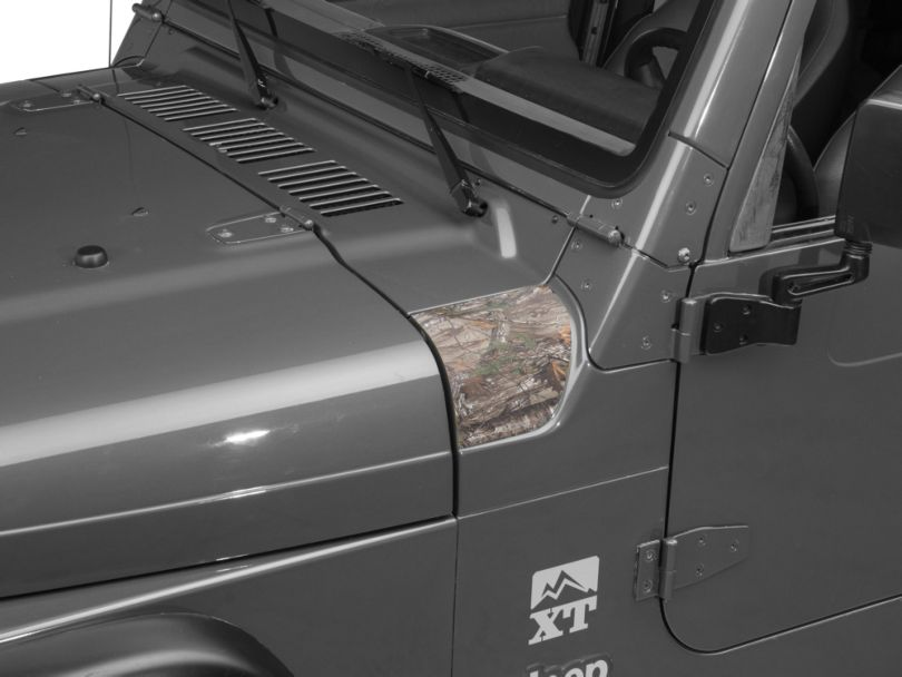 Outer Cowl Decal - Real Tree (97-06 Jeep Wrangler TJ)