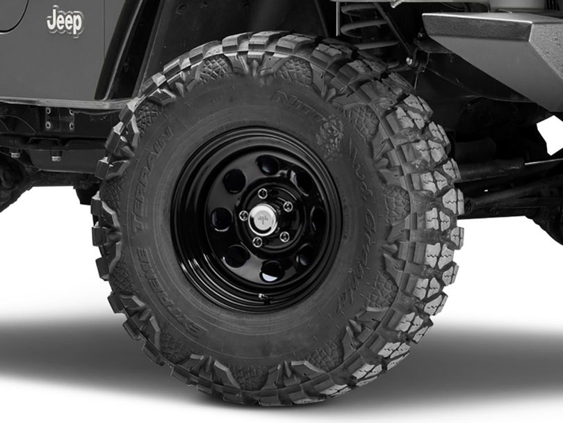 Mammoth 8 Black Steel Wheel - 15x8 (97-06 Jeep Wrangler TJ)