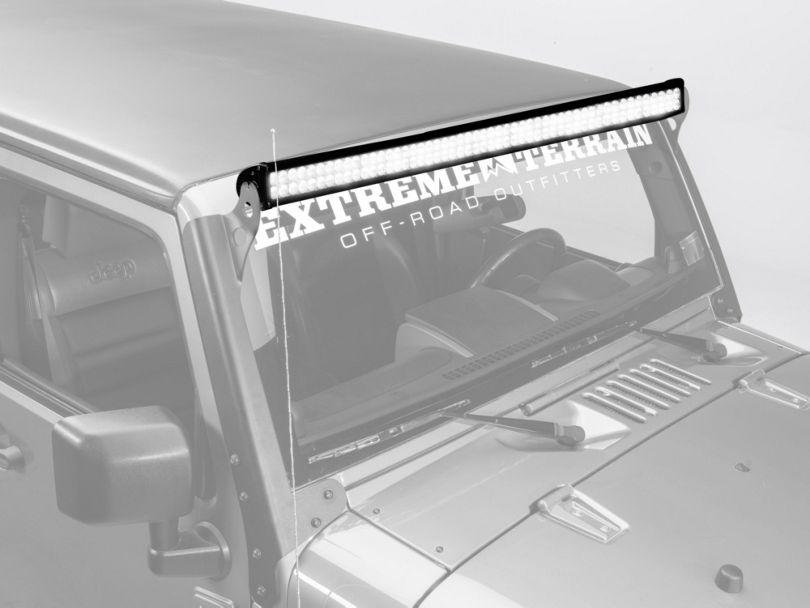 Raxiom 50 in. Double Row LED Light Bar - Flood/Spot Combo (87-18 Jeep Wrangler YJ, TJ & JK)