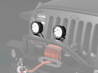 Add Raxiom 4.5 in. Round 9 LED Light (87-17 Wrangler YJ, TJ & JK)