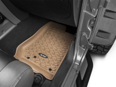 Rugged Ridge All-Terrain Floor Mats - Tan (14-18 Jeep Wrangler JK)