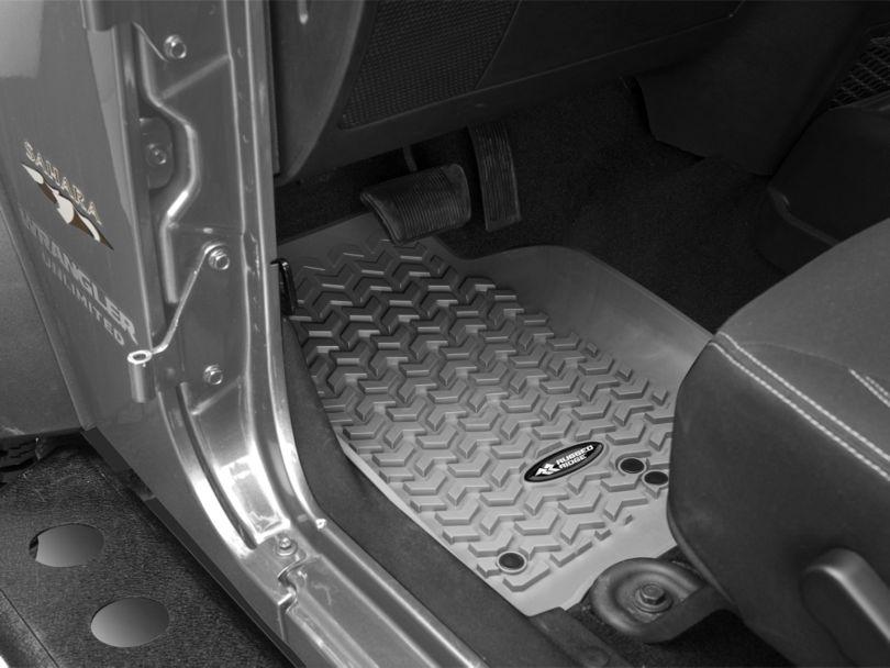 Rugged Ridge All-Terrain Front Floor Mats - Gray (14-18 Jeep Wrangler JK)