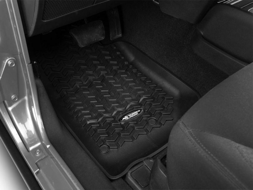 Rugged Ridge All-Terrain Front & 2nd Row Floor Mats - Black (14-18 Jeep Wrangler JK 2 Door)