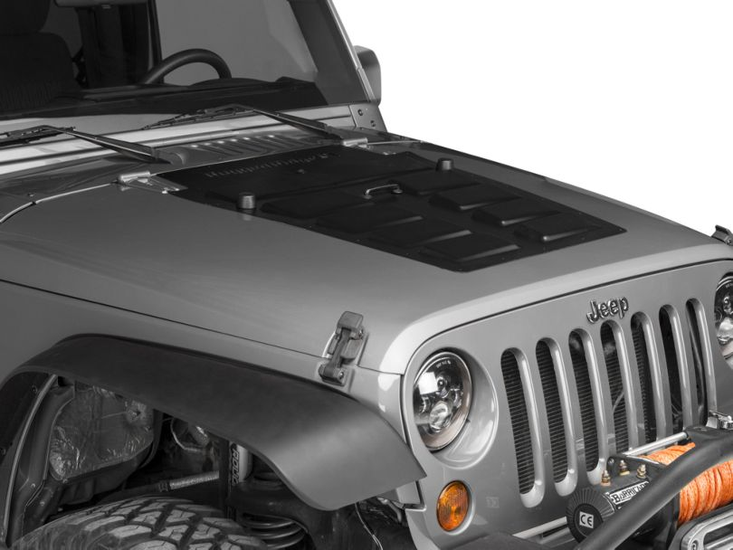Rugged Ridge Hood Vent Insert - Black (07-18 Jeep Wrangler JK)