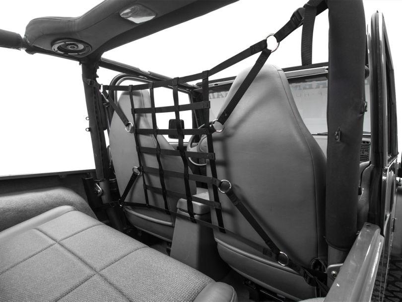 TruShield Pet Barrier Net - Black (92-06 Jeep Wrangler YJ & TJ)